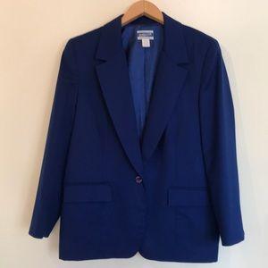Vintage Pendleton cobalt royal blue blazer jacket